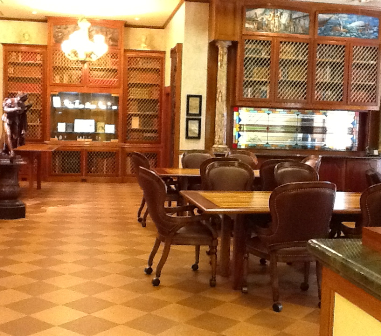 The remodeled Norton Research Library features exotic woods and literature-inspired artwork alongside rare and antiquarian books.