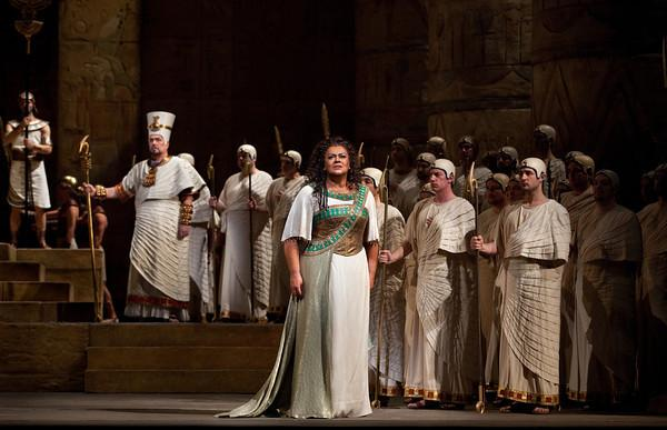 "Violeta Urmana as the title character in Verdi's ""Aida"""