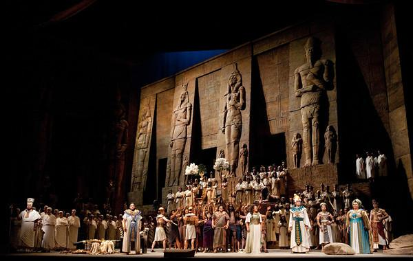 "A scene from Act II of Verdi's ""Aida."""