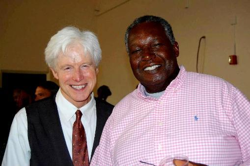 Advisory Board member Leonard Wilson with Fred Newman