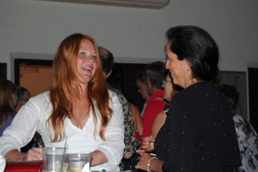 Andra Suchy with guest at reception