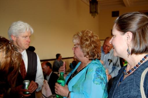 Fred Newman chatting with guests at Reception