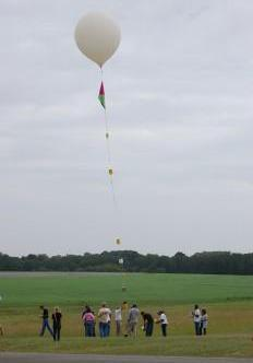 The Louisiana Aerospace Catalyst Experiences for Students (LaACES) program releases a scientific balloon at the Columbia Scientific Balloon Facility in Palestine, Texas.
