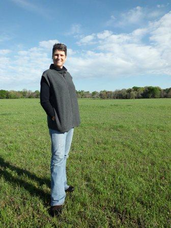 Farmer Julia Trigg Crawford stands in the pasture where TransCanada plans to put a segment of its Keystone XL Gulf Coast pipeline.
