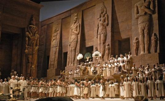 Scene from Act Ii of Verdi's Aida