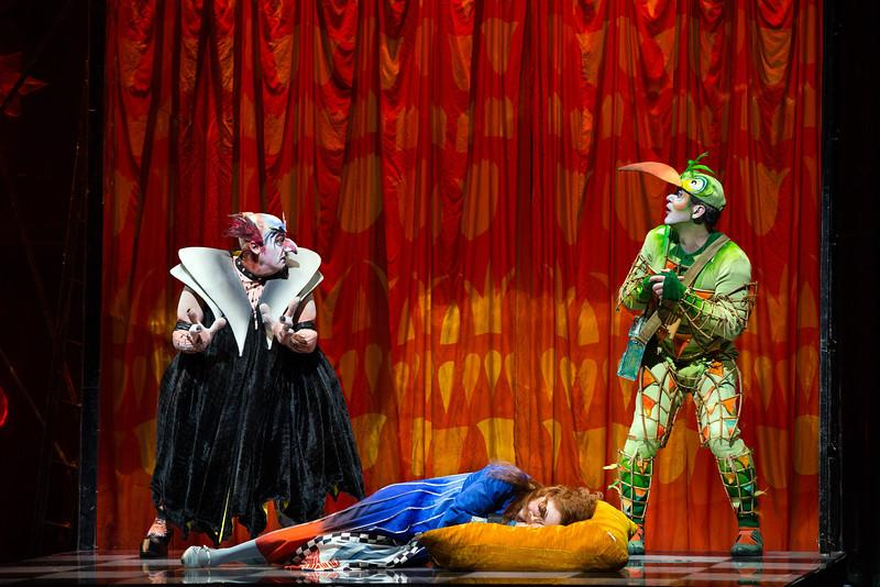 John Easterlin as Monastatos, Heidi Stober as Pamina & Nathan Gunn as Papageno in the Magic Flute