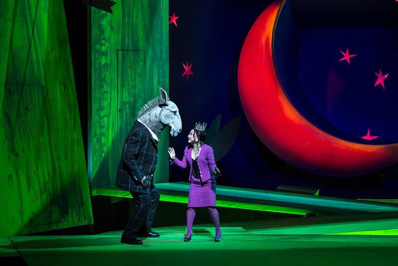 Matthew Rose as Bottom and Kathleen Kim as Tytania