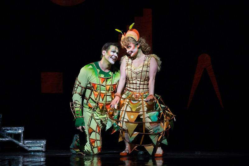 Nathan Gunn as Papageno and Ashley Emerson as Papagena