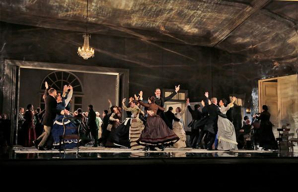Scene from Act II of Eugene Onegin