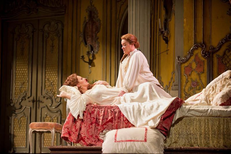 Martina Serafin as the Marschallin and Alice Coote as Octavian