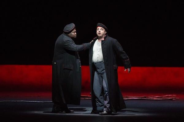 Russell Thomas as Andres and Matthias Goerne as Wozzeck