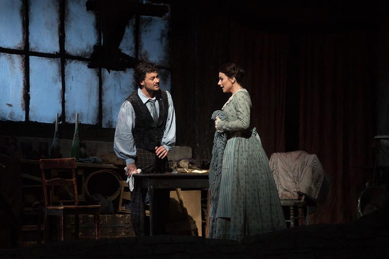 Vittorio Grigolo as Rodolfo and Anita Hartig as Mimì