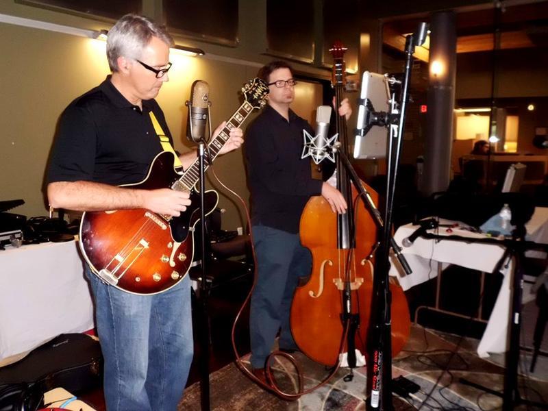 Loren Demerath (Vocals & Guitar) and Joel Boultinghouse (Bass) in the RRR Stuidos