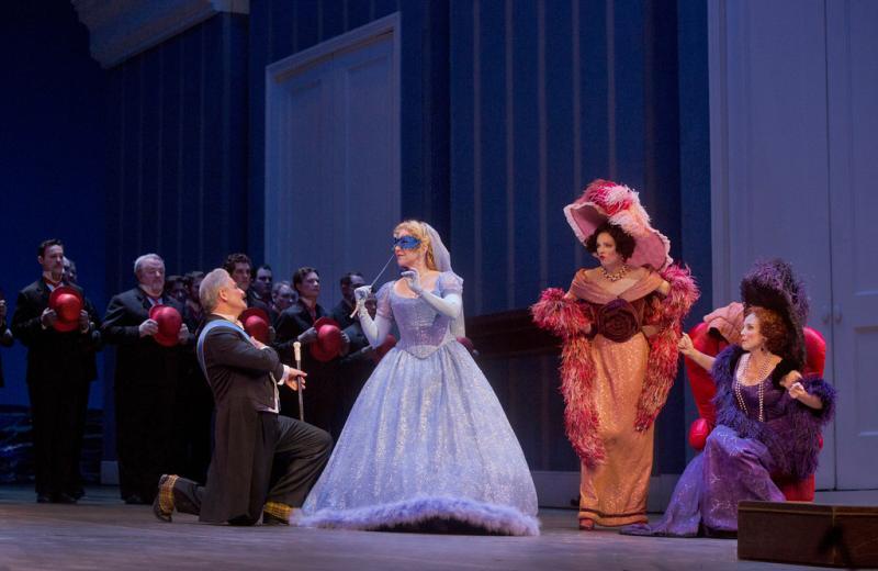 Pietro Spagnoli as Dandini; Joyce DiDonato as Angelina; Rachelle Durkin as Clorinda; Patricia Risley as Tisbe