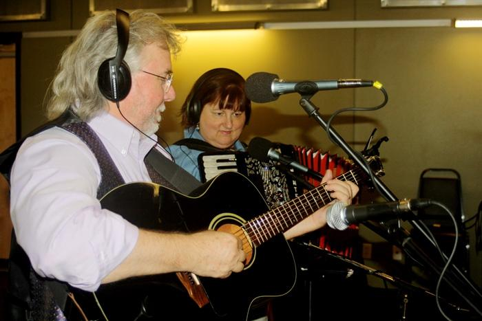 Dudley-Brian Smith on guitar and Jan Smith on accordion and vocals