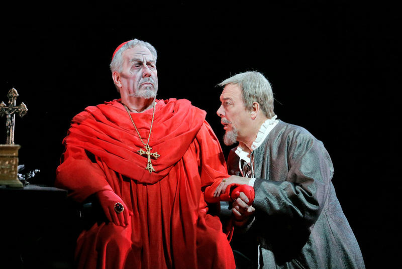James Morris as the Grand Inquisitor and Ferruccio Furlanetto as Philip II