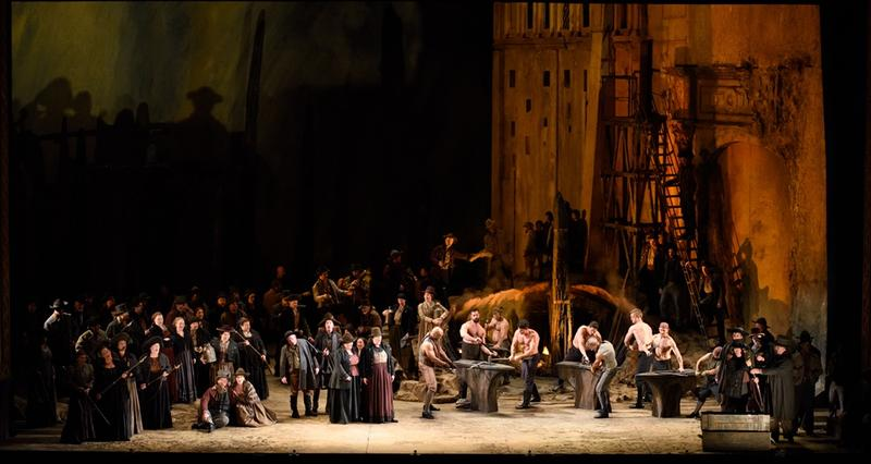 The Anvil Chorus from IL Trovatore at Lyric Opera of Chicago.