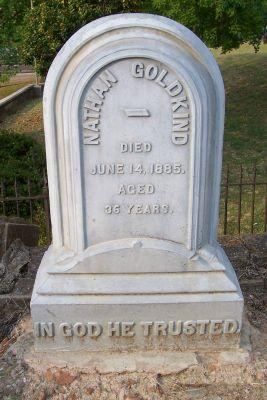 Nathan Goldkind tombstone
