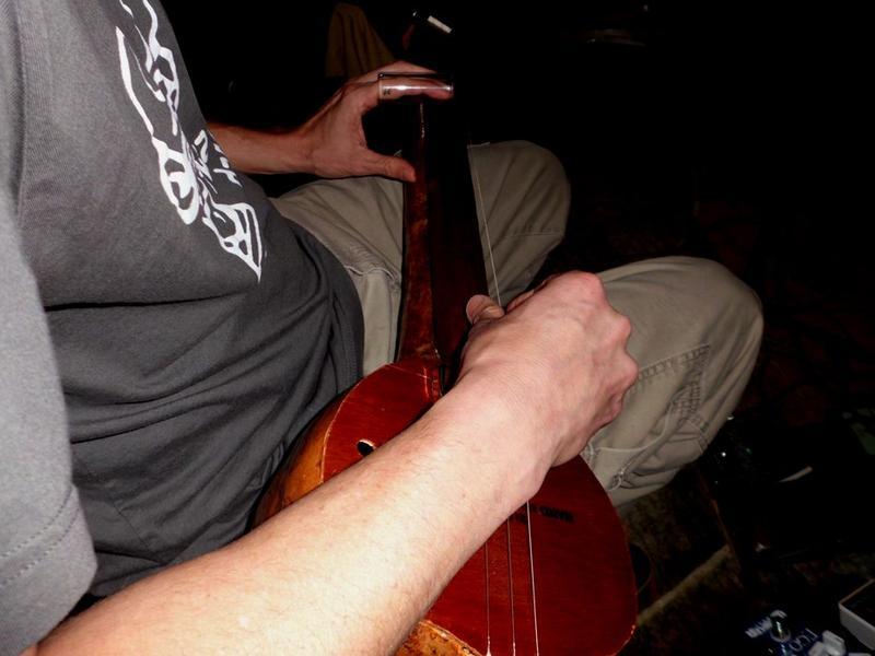 Michael Futreal Sliding the Gourd Banjo