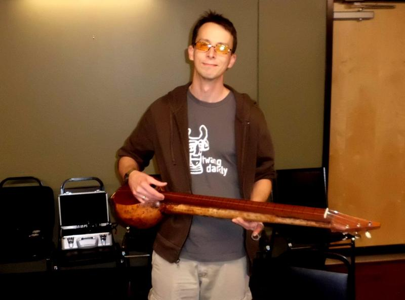 Michael Futreal with Gourd Banjo