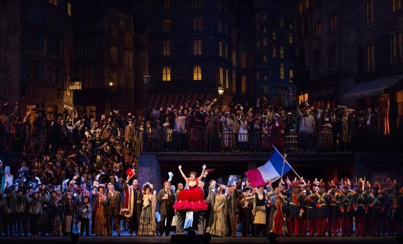 A scene from Act II of Puccini's La Boheme