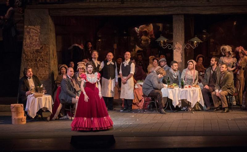 Ana María Martínez as Musetta in Puccini's La Boheme