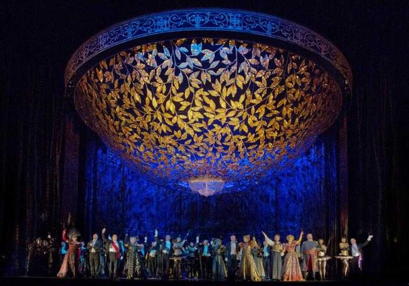 A scene from Act 2 of Johann Strauss, Jr's Die Fledermaus