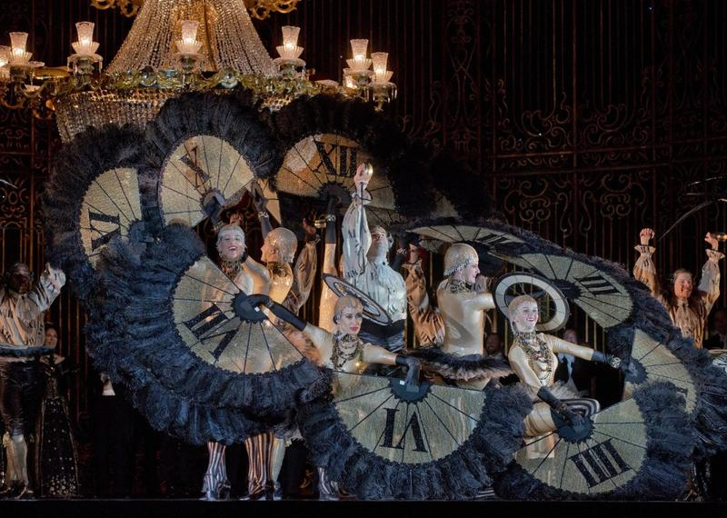 A scene from the Act 2 ballet in Johann Strauss, Jr's Die Fledermaus