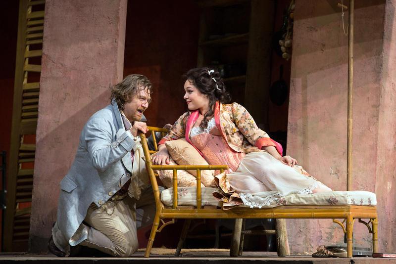 Levente Molnár as Dr Malatesta and Eleonora Burrato as Norina in Donizetti's Don Pasquale