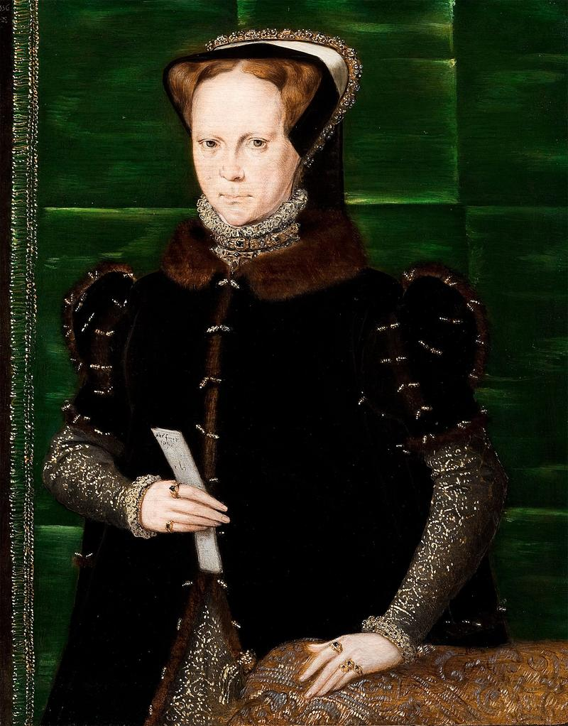 Portrait of Mary I of England, oil on panel