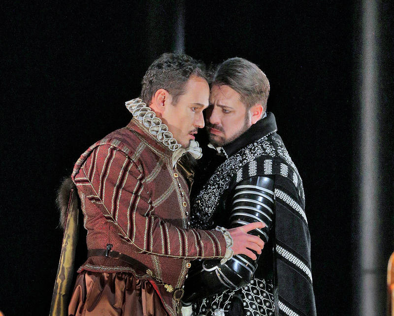 Mariusz Kwiecień as the Duke of Nottingham and Matthew Polenzani in the title role in Donizetti's Roberto Devereux