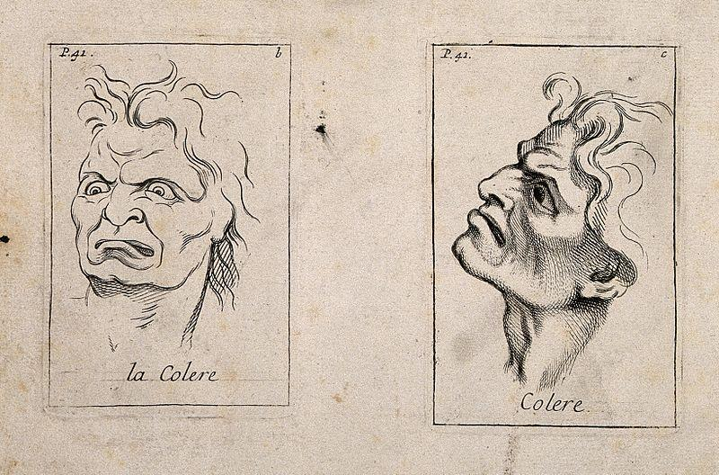 https://commons.wikimedia.org/wiki/File:A_frontal_outline_and_a_profile_of_faces_expressing_anger._E_Wellcome_V0009398.jpg