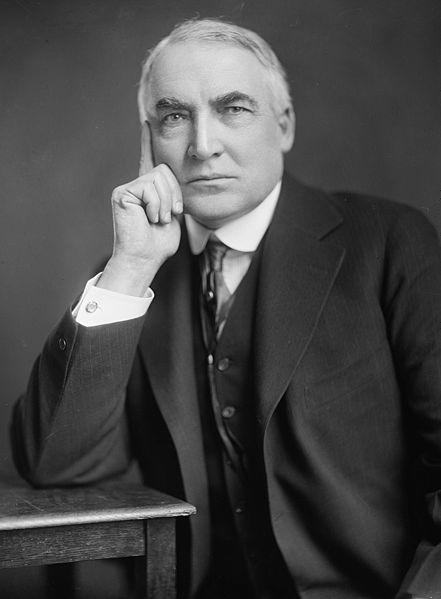 Warren G. Harding, by Harris & Ewing.