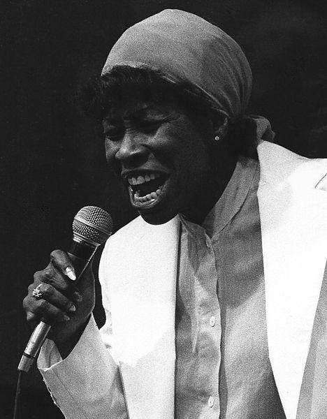 Vocalist Betty Carter performing at the Pori Jazz Festival in Finland, July 1978.