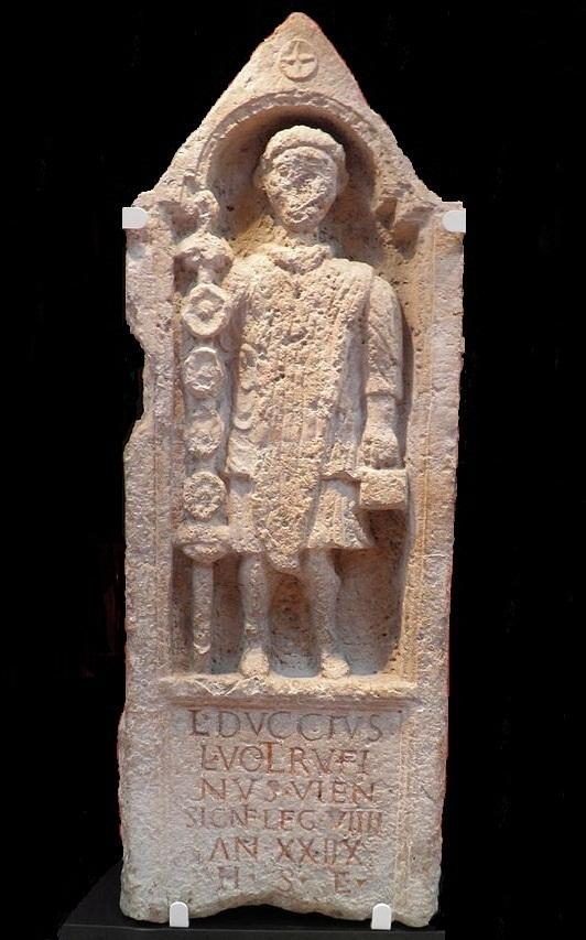 Memorial to Lucius Duccius Rufinus, a standard bearer of the Ninth, Yorkshire Museum, York
