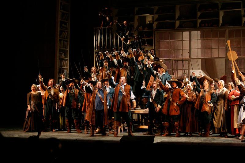 A scene from Alfano's Cyrano de Bergerac