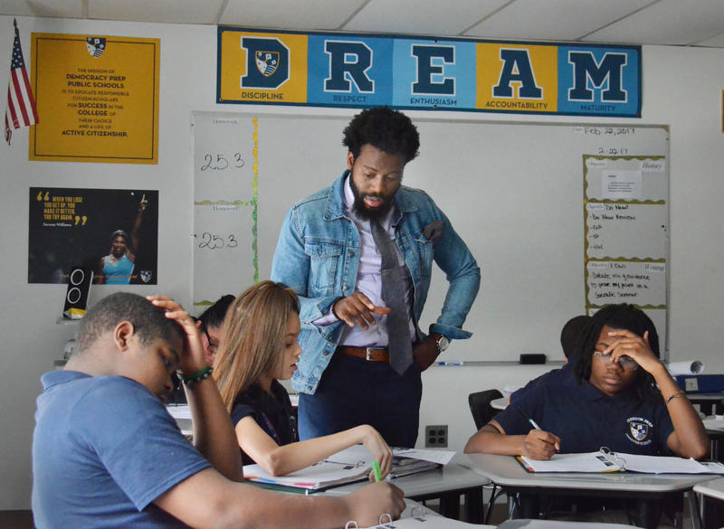 Teacher Christopher McFadden is a member of The Fellowship, a group in Philadelphia trying to recruit and retain black male teachers. Only 2 percent of teachers in American public schools are black men.