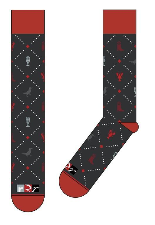 Red River Radio Designer Socks - Available for a $100 donation.  Red River Radio Designer Socks are here, with our logo and a Louisiana Radio themed layout.