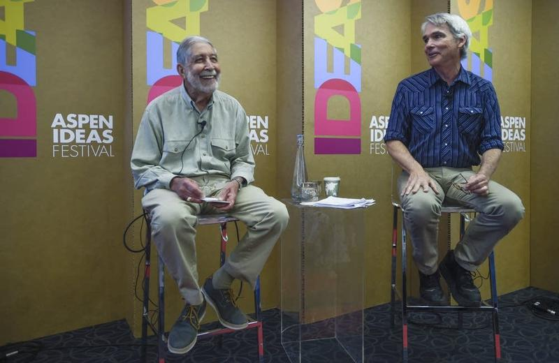 Former Republican congressman Mickey Edwards and author William Bishop at the Aspen Ideas Festival.
