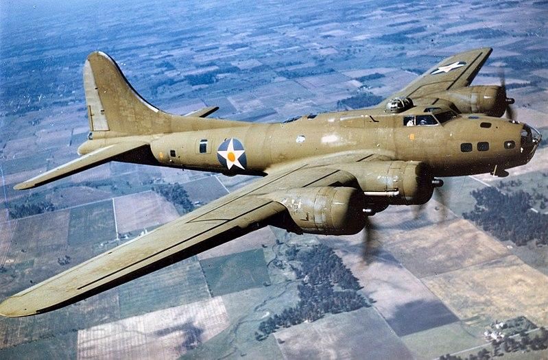 Boeing B-17E in flight. (U.S. Air Force photo)