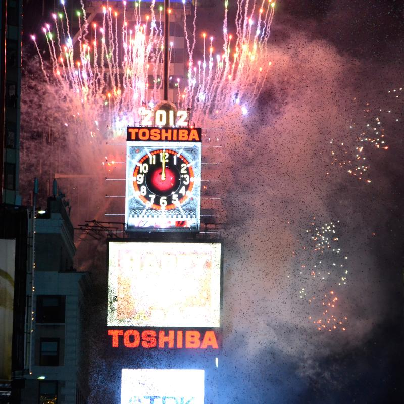 New Year Ball Drop Event for 2012 at Times Square