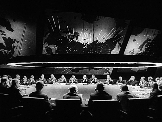 The War Room with the Big Board from Stanley Kubrick's 1964 film, Dr. Strangelove.