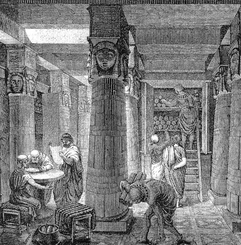 https://commons.wikimedia.org/wiki/File:Ancientlibraryalex.jpg