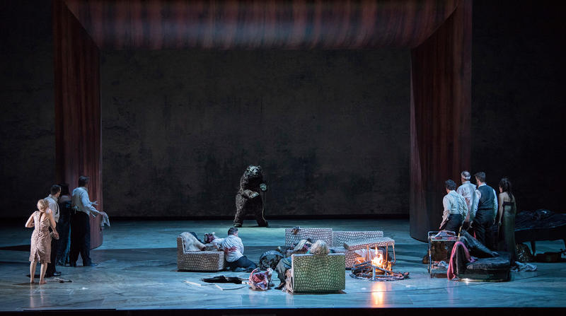 """A scene from Act III of Adès' """"The Exterminating Angel."""""""