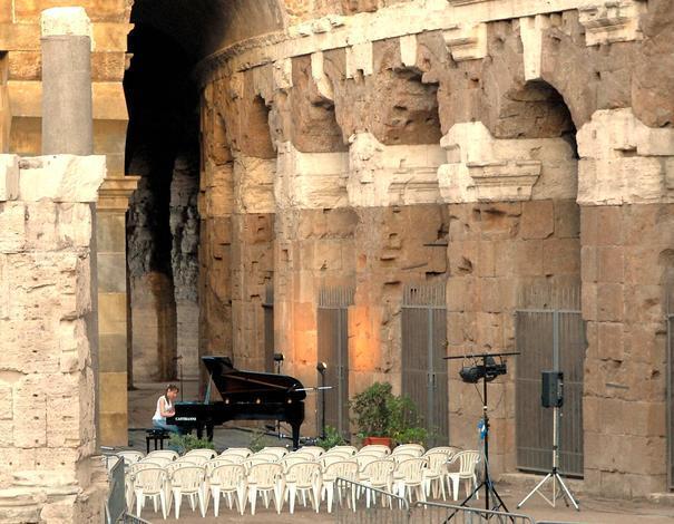 Piano Rehearsal Outside Teatro di Marcello Rome, July 11, 2007