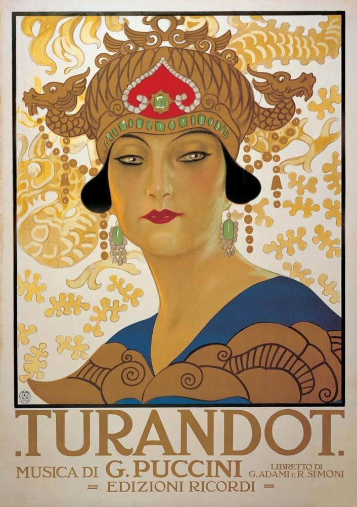 "Promotional poster for Giacomo Puccini's opera ""Turandot"", on 25 April 1926"