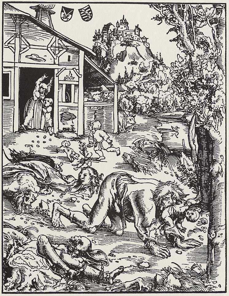Werewolf - Lucas Cranach the Elder (1472–1553)