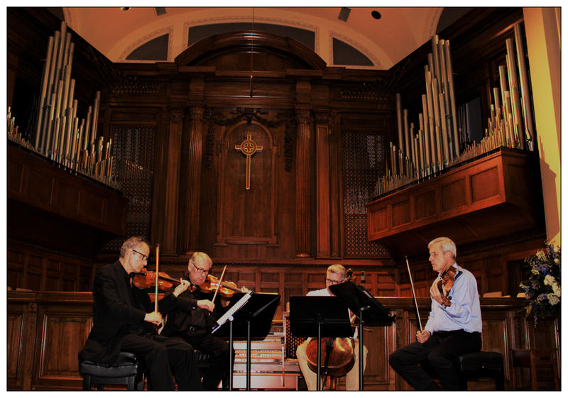 The Emerson String Quartet rehearses at the First United Methodist Church in Shreveport