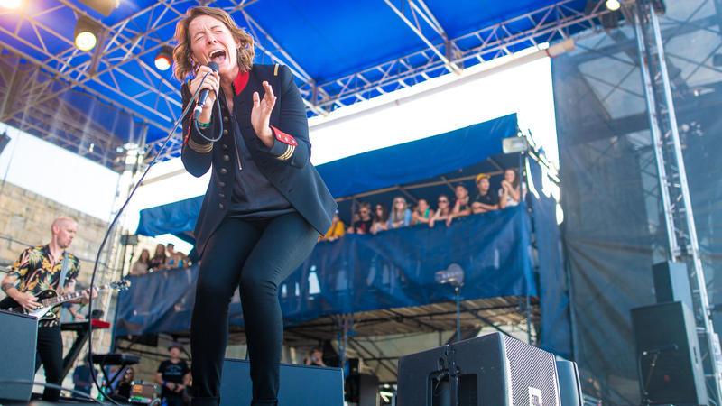 Brandi Carlile performs at the 2018 Newport Folk Festival.