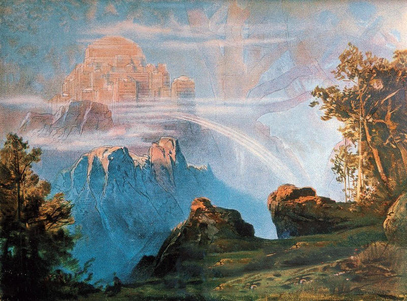 Wotan's fortress of Valhalla
